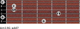 Am13/G add(7) guitar chord