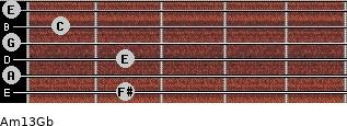 Am13/Gb guitar chord
