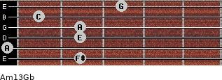 Am13/Gb for guitar on frets 2, 0, 2, 2, 1, 3