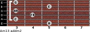 Am13 add(m2) guitar chord