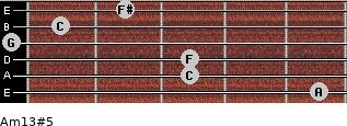 Am13#5 for guitar on frets 5, 3, 3, 0, 1, 2