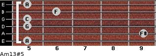Am13#5 for guitar on frets 5, 9, 5, 5, 6, 5