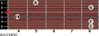 Am13#5/C for guitar on frets 8, 8, 4, x, 8, 5