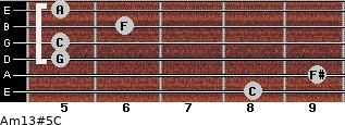 Am13#5/C for guitar on frets 8, 9, 5, 5, 6, 5
