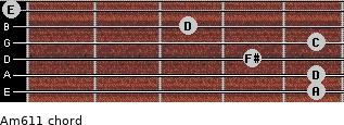 Am6/11 for guitar on frets 5, 5, 4, 5, 3, 0