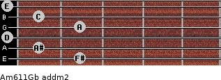 Am6/11/Gb add(m2) guitar chord