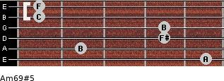 Am6/9#5 for guitar on frets 5, 2, 4, 4, 1, 1