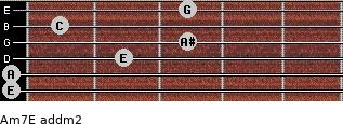 Am7/E add(m2) guitar chord