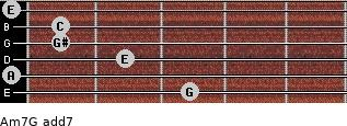 Am7/G add(7) guitar chord