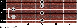 Am7 add(m2) guitar chord
