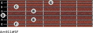 Am9/11#5/F for guitar on frets 1, 2, 0, 2, 1, 3