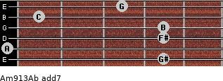 Am9/13/Ab add(7) guitar chord