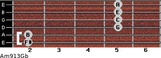 Am9/13/Gb guitar chord