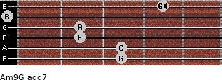 Am9/G add(7) guitar chord