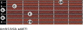 Am9/13/Gb add(7) guitar chord