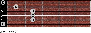 Am/E add(2) guitar chord