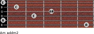 Am add(m2) for guitar on frets 5, 0, 2, 3, 1, 0