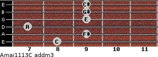 Amaj11/13/C add(m3) guitar chord