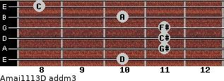 Amaj11/13/D add(m3) guitar chord