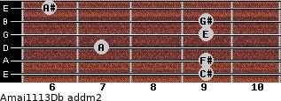 Amaj11/13/Db add(m2) guitar chord