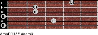 Amaj11/13/E add(m3) guitar chord