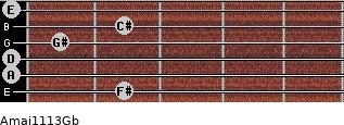 Amaj11/13/Gb guitar chord