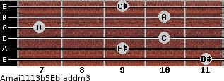 Amaj11/13b5/Eb add(m3) guitar chord