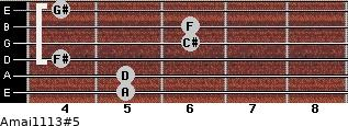 Amaj11/13#5 for guitar on frets 5, 5, 4, 6, 6, 4