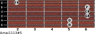 Amaj11/13#5 for guitar on frets 5, 5, 6, 6, 6, 2