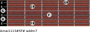 Amaj11/13#5/F# add(m7) guitar chord