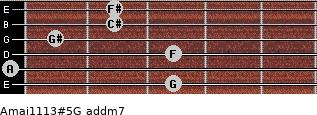 Amaj11/13#5/G add(m7) guitar chord