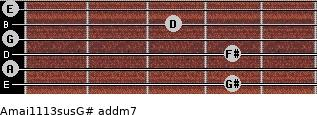 Amaj11/13sus/G# add(m7) guitar chord