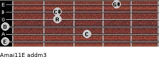 Amaj11/E add(m3) guitar chord