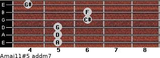 Amaj11#5 add(m7) guitar chord