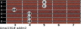 Amaj13/G# add(m2) guitar chord