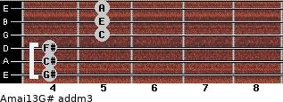 Amaj13/G# add(m3) guitar chord
