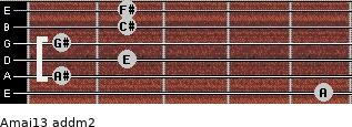 Amaj13 add(m2) guitar chord