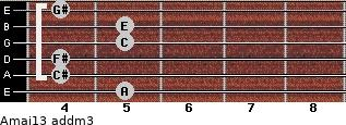 Amaj13 add(m3) guitar chord