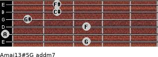 Amaj13#5/G add(m7) guitar chord