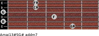 Amaj13#5/G# add(m7) guitar chord