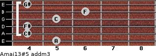 Amaj13#5 add(m3) guitar chord