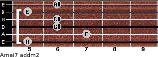 Amaj7 add(m2) guitar chord