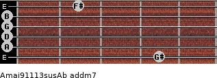 Amaj9/11/13sus/Ab add(m7) guitar chord
