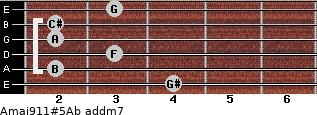 Amaj9/11#5/Ab add(m7) guitar chord