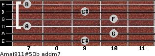 Amaj9/11#5/Db add(m7) guitar chord