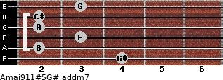 Amaj9/11#5/G# add(m7) guitar chord