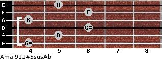 Amaj9/11#5sus/Ab for guitar on frets 4, 5, 6, 4, 6, 5