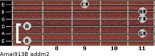 Amaj9/13/B add(m2) guitar chord