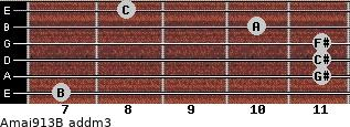 Amaj9/13/B add(m3) guitar chord