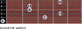 Amaj9/13/E add(m3) guitar chord